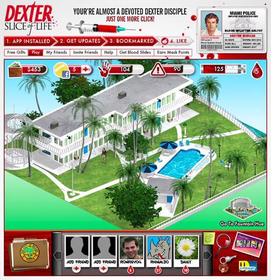 Dexter SOL Apt Dexter, il gioco su Facebook per il serial killer che è in te